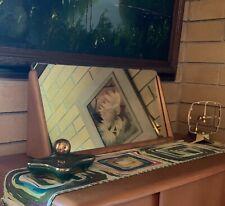 1955 Heywood - Wakefield Vanity Mirror in Original Wheat Rare - M-923 - Mcm
