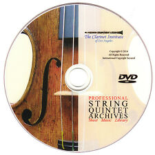 HUGE String Quintet Sheet Music Collection PDF DVD