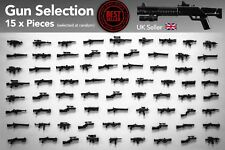 15PCS MINIFIGURES WEAPON PACK TOY GUNS & WEAPONS FOR MINIFIGS
