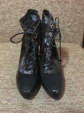 ADOLFO DOMINGUEZ  Ladies Heel Shoes Size 37 Black