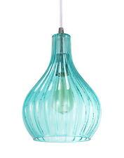 Aspen Creative 61039-1 Adjustable 1 Light Mini Pendant, Chrome, Surf Green Glass