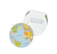 Pack of 12 - Earth Globe Notepads - Planet Party Bags Favours Fillers