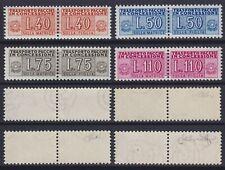 Italia 1953 Pacchi in concessione ruota i 4 val. nuovi MNH** g. integra - Cilio