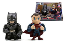 Jada Metals Die Cast 4 Inch Action Figure Twin Pack DC Superman v Batman M9