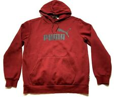 Puma Mens Red Long Sleeve Hoodie Sweatshirt Size Medium