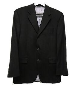 Black Cashmere Blazer BARNEYS NEW YORK Single Breasted Size 41R