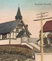 Postcard, 1913 Mission B.C. English Church, Hand Tinted Vintage P08