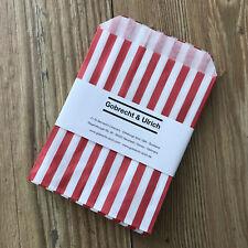 50 bolsas de dulces retro para regalos, favores, Dulces-Rojo Rayas - 13x18 Cm - 5x7 en