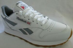 Reebok Men's White Classic Leather Running Shoes 8.5