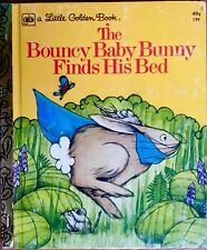 BOUNCY BABY BUNNY FINDS HIS BED~ Vintage Childrens Little Golden Book
