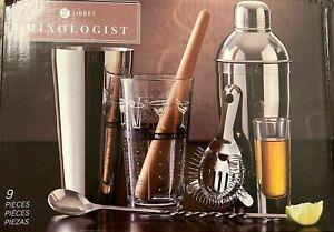 Libbey Glass 9-Piece Mixologist Set Drink Mixer