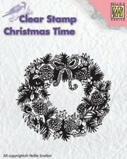 Nellie Snellen clear stamp Christmas Time - CHRISTMAS WREATH CT013,Stempel