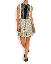 New Carven dress, Cream black contrast lace UK10 FR40  RRP £535