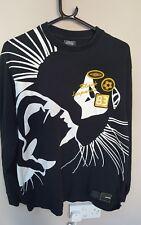 Umbro Top Black Leopards t-shirt l/s  FC Large Retro Casual Football Retro FAB