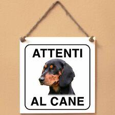 Slovensky Kopov Segugio foresta nera 1 Attenti al cane Targa piastrella cartello