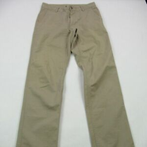North Face Hiking Camping Pants Size 30 Khaki Straight Leg Cotton Blend