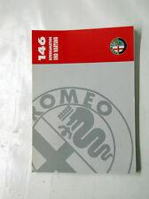 Alfa Romeo 146 INSTRUCCIONES Manual de y Mantenimiento Nuevo 60490666
