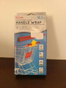 Klear Shopping Cart Handle Wrap, 15.5 in., Universal, Easy to Use, One Size. Red