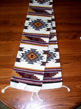 "Table Runner Handwoven Wool 10x80"" Southwestern Native American Design #38"
