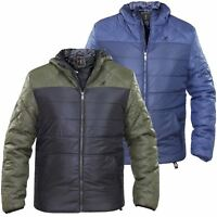 New Kids Kangol Boys Padded Quilted Full Zip Hooded Jacket Lined Winter Coat