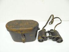 Antique Old Used Carl Zeiss Jena Marineglas World War I WWI Binoculars with Case