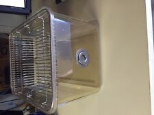 "Lab Rodent Mouse Breeding plastic cage 12"" X 8.5"" X 6"""