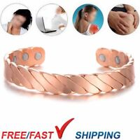 Twisted Pure Copper Magnetic Bracelet For Men Women Bangle Arthritis Pain Relief