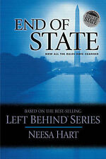 """""""AS NEW"""" Hart, Neesa, End of State (Political Thriller Left Behind, 1), Paperbac"""