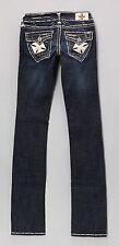 Laguna Beach Newport White Stitch Embellished Straight Leg Jeans size 23-CL0344