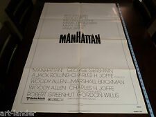 Woody Allen MANHATTAN Original 1979 Diane Keaton Movie NSS Poster 27x41 Folded