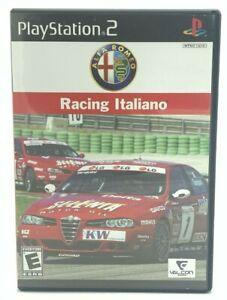 Alfa Romeo Racing Italiano (Sony PlayStation 2, 2006 PS2) Complete CIB Tested