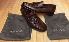 TOM FORD Alligatore Coccodrillo Mocassini Scarpe Nappa Mocassini > BN > originale > £ 6000+ > 7uk >