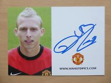 2009-10 Ritchie De Laet Signed Man Utd Club Card (19533)