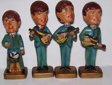 4 The Beatles Plastic Bobble Head Nodder Cake Toppers Paul John Ringo George