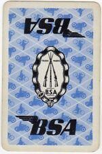 Playing Cards 1 Swap Card - Vintage BSA Motorbike Motorcycle Bicycle RIFLE Ad 1