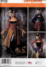 Simplicity Sewing PatternDark Fairy Costume Fantasy 14 16 18 20 22 UNCUT 1138