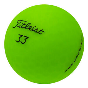 48 Titleist Velocity Matte Green Mint Used Golf Balls AAAAA *In a Free Bucket!*