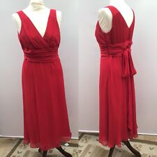 Hobbs Red Sleeveless Dress Size 12 Wedding Party Occasion