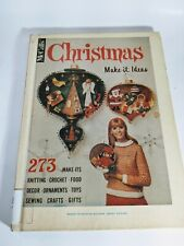 Vtg McCall's Christmas Make-it Ideas Hardcover book 1967 Patterns Crafts Gifts