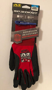 Mechanix Wear Speedknit Gloves, Red and Black, Small/Medium Abrasion Resistant