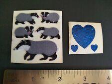Vintage Stickers Lot 80s Sandylion Fuzzy Badgers Sticca Hearts Sticker Mods VTG