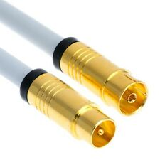 1,5m Digital TV Antennenkabel Kabel 5-fach 135 dB Koax Stecker Buchse Full HD 4K