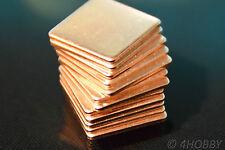 Set 12 Kupferplättchen Kupferpad Wärmeleiter CPU Wärmeleitplättchen Wärme Pad