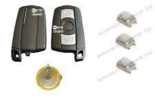 Kit De Reparación Para BMW 1 3 5 6 7 serie E90 E92 E93 Batería de 3 Botones Key Switches &