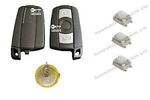 Repair kit for BMW 1 3 5 6 7 Series E90 E92 E93 3 button key switches & battery