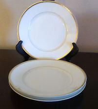 B & C Fleur de Lys French Limoges Salad Plates Set of 3 White w/ Gold Trim Verge