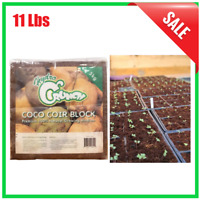 11 Lbs. Coco Coir Block Soilless Growing Media Organic Indoor Outdoor Garden New
