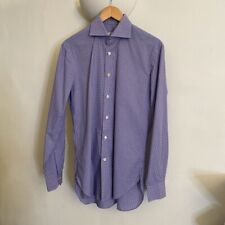 NBWOT Kiton Cotton Checked Long Sleeve Shirt, Collar Size 15 in