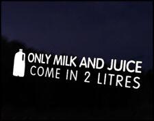 Milk & Juice 2 Litres Car Decal Sticker JDM Vehicle Bike Bumper Graphic Funny