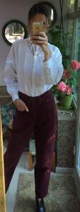 Vintage 70s Victorian/Edwardian Style Blouse, High Neck, Pintucks, Lace, Prairie